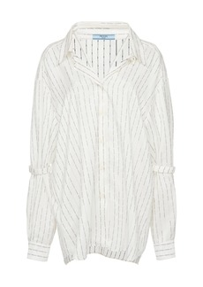 Prada Oversized Printed Silk Shirt