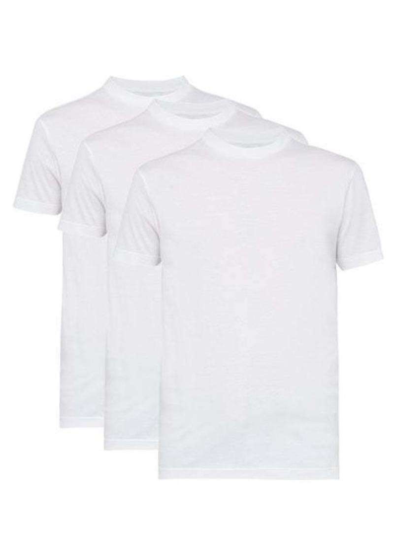Prada Pack of three cotton crew-neck T-shirts