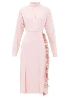 Prada Paillette-trimmed crepe dress