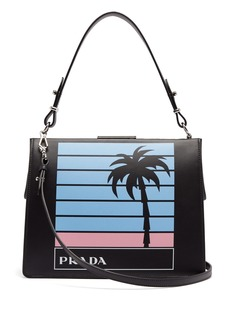 Prada Palm tree-print leather bag