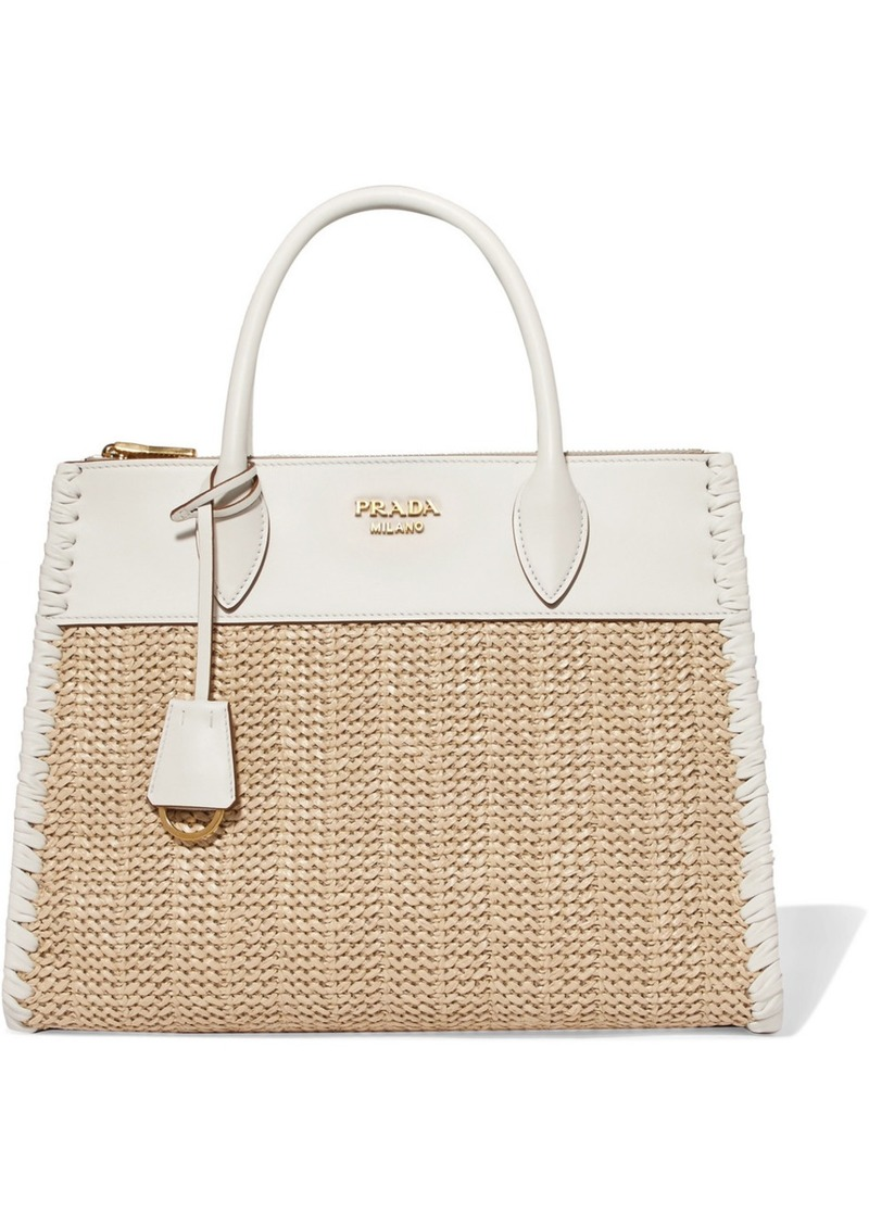 42616951ce70 Prada Prada Paradigme medium raffia and leather tote | Handbags