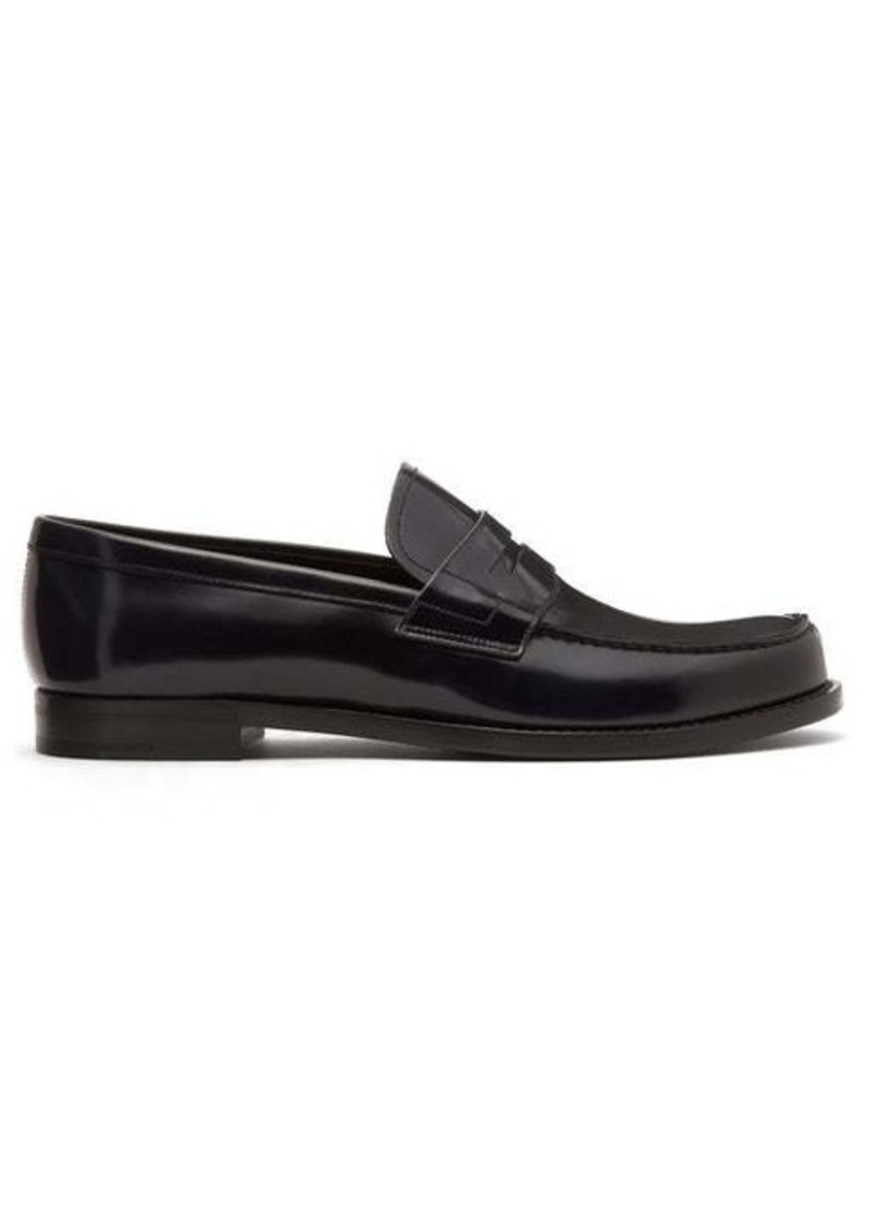Prada Penny leather loafers
