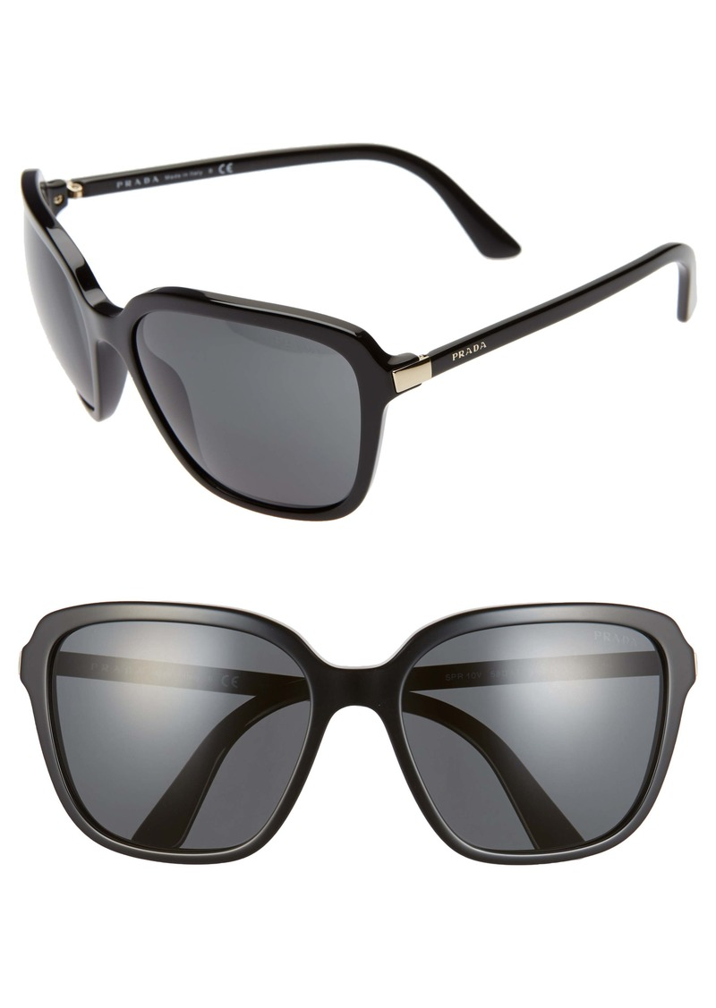Prada Pillow 58mm Square Sunglasses