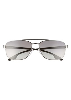 Prada Pillow 62mm Oversize Navigator Sunglasses