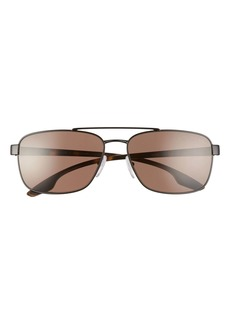 Prada Pillow Sun 62mm Polarized Aviator Sunglasses
