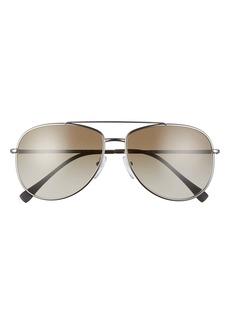 Prada Pilot 61mm Gradient Aviator Sunglasses