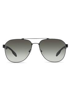 Prada Men's Punched Aviator Sunglasses, 60mm