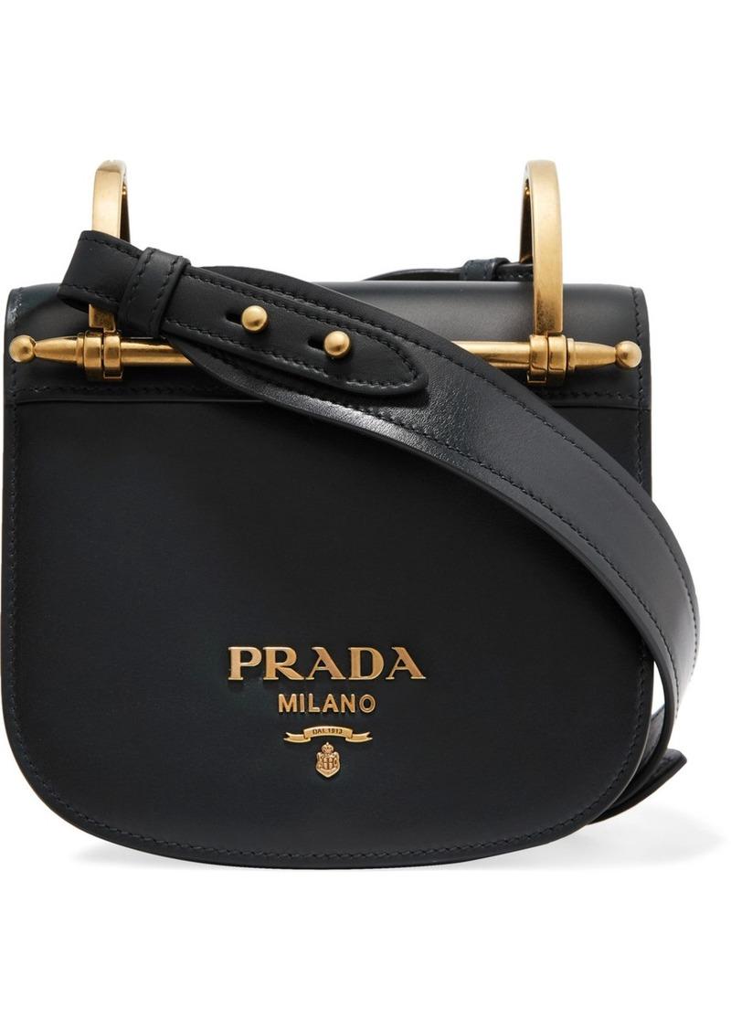 ae05242b5046 Prada Pionnière Leather Shoulder Bag   Handbags