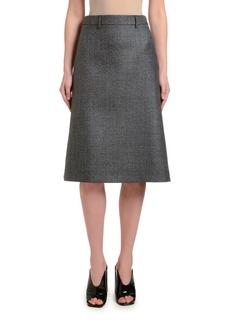 Prada Plaid A-Line Knee-Length Skirt