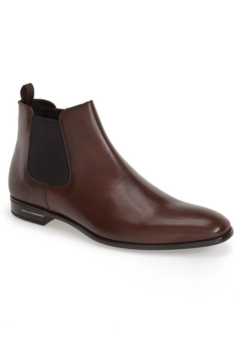 Prada Plain Toe Chelsea Boot (Men)