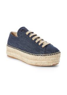Prada Platform Espadrille Sneaker (Women)