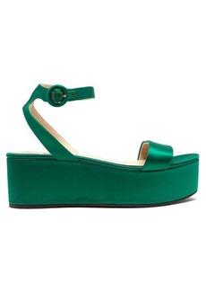 Prada Platform satin sandals