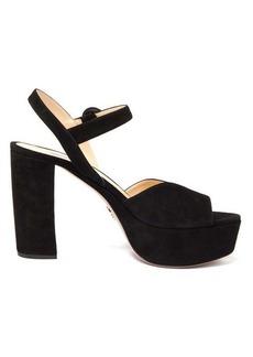 Prada Platform suede sandals