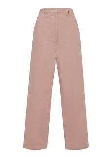 Prada Pleated Cotton Trousers