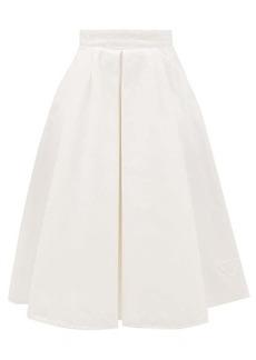 Prada Pleated denim skirt