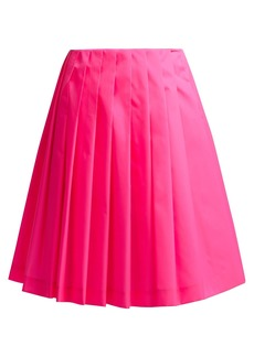 Prada Pleated gabardine skirt