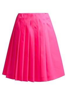 Prada Pleated gabardine skirt