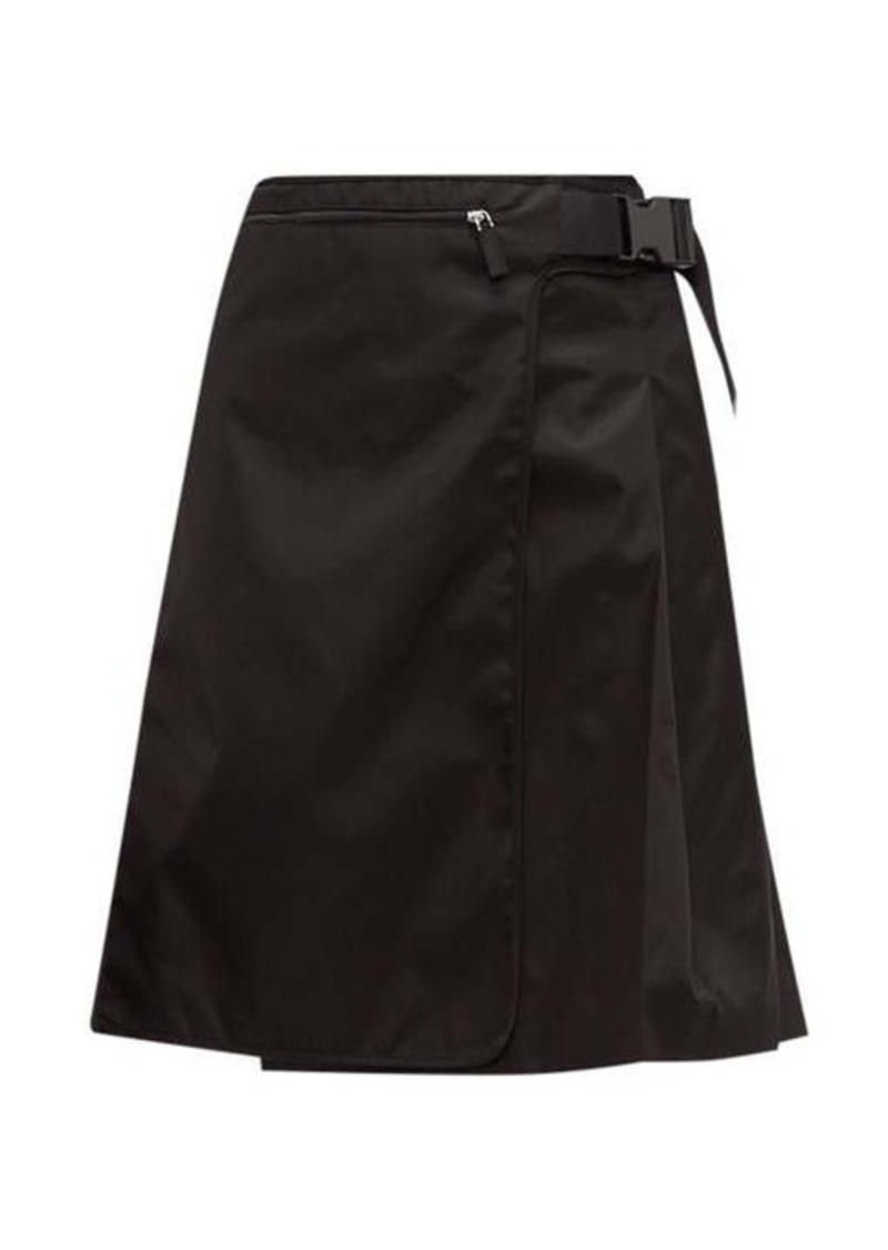 Prada Pleated nylon skirt
