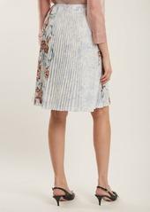 Prada Pleated rabbit-print skirt