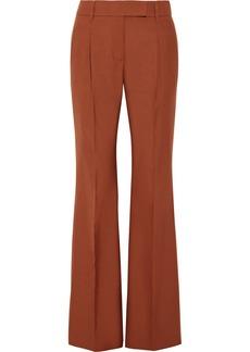 Prada Pleated Wool-blend Hopsack Wide-leg Pants