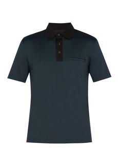 Prada Point-collar stretch-cotton jersey polo shirt