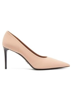 Prada Point-toe neoprene pumps