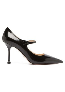 Prada Pointed Mary Jane leather pumps