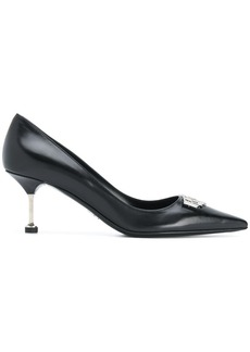 Prada pointed metal heel pumps - Black