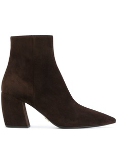 Prada pointed toe ankle boots - Brown