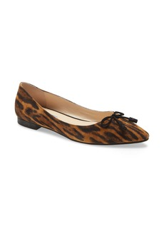 Prada Pointed Toe Bow Flat (Women)