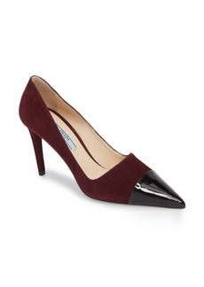 Prada Pointy Cap Toe Pump (Women)