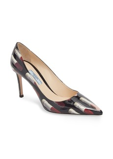 Prada Pointy Toe Lipstick Pump (Women)