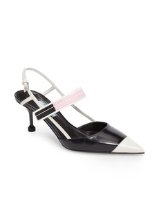 Prada Pointy Toe Strap Pump (Women)