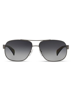 Prada Men's Polarized Pilot Aviator Sunglasses, 52mm