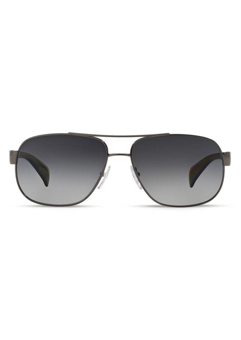 Prada Men's Polarized Pilot Aviator Sunglasses, 52mm