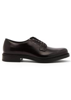 Prada Polished-leather derby shoes
