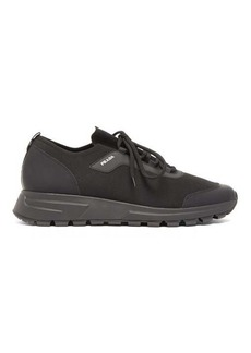 Prada PRAX 01 stretch-knit and leather trainers