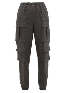 Prada Prince of Wales-check wool cargo trousers