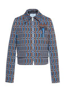 Prada Printed Crepe Jacket