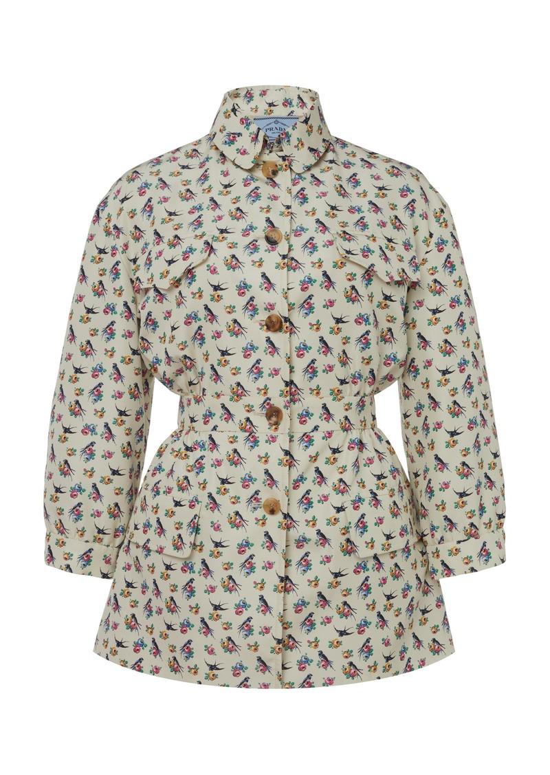 Prada Printed Silk Jacket