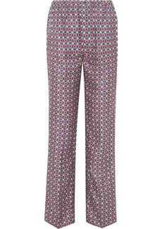 Prada Printed Silk-satin Twill Straight-leg Pants