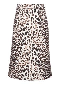 Prada Printed Wool Skirt