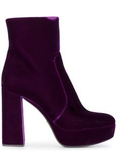 Prada Purple 115 Velvet platform boots - Pink & Purple