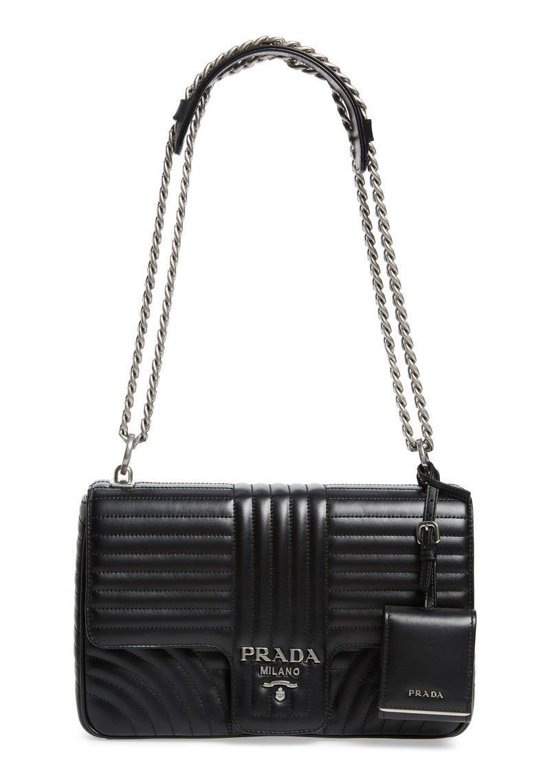 Prada Quilted Calfskin Leather Handbag