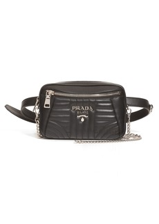 Prada Quilted Leather Convertible Belt Bag