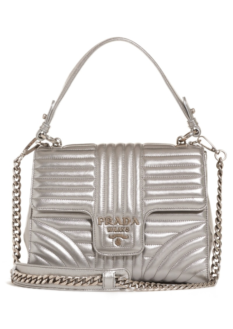 937ff803ea6a Prada Prada Quilted Metallic Lambskin Leather Handbag | Handbags