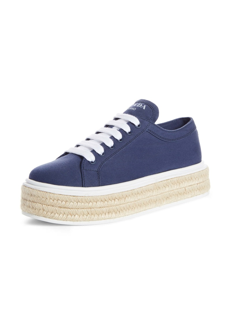 Prada Raffia Platform Sneaker (Women)