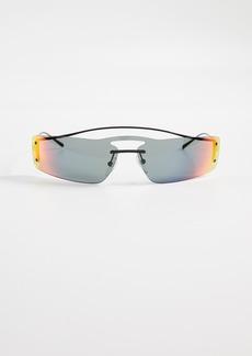 32333aedf602c Prada PR 61VS Runway Rainbow 90 s Skinny Rectangle Sunglasses