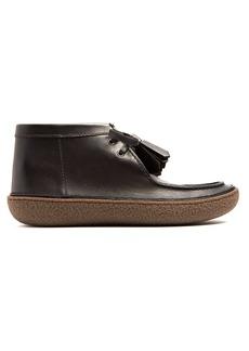 Prada Raised-sole leather desert boots
