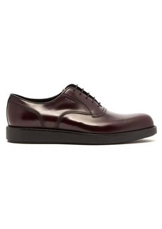 Prada Raised-sole leather oxford shoes